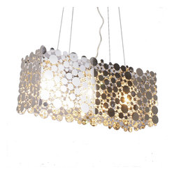 Bromi Design Rachel Lane 3-Light Chrome Pendant