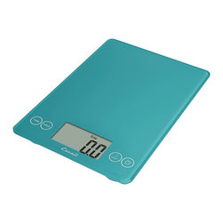 Escali Arti Kitchen Scale Peacock Blue - The Escali Arti Scale - the new standard in kitchen scales. Capable of weighing liquid and dry ingredients up to an astounding 15 lbs with an accuracy of 0.1 ounces or 1 gram. The Arti's list of features is long and loaded with value. Its crisp and clear display which is 50% larger than commonly found on a kitchen scale sits between the user friendly touch sensitive controls and results in a single smooth glass surface that is not only beautiful but incredibly functional.