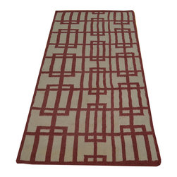 1800-Get-A-Rug - Durie Kilim Runner Geometric Hand Woven Flat Weave Oriental Rug Sh17205 - The Flat Weave hand woven rug is a type of area rug created by weaving wool onto a foundation of cotton warps on a loom. The Flat Weave rug offers the same beauty and durability as the classical thick-pile Oriental rugs, but without the telltale thick pile often spotted in other rugs. This gives the Flat weave a thin and flat appearance which resembles the Needlepoint, making them wonderfully ideal choices as accent rugs, wall hangings, or to drape over furniture and staircases.