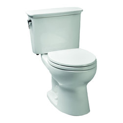 Toto - Toto CST744ELN-01 Eco-drake Ada Elongated Bowl Toilet - The Eco Drake transitional toilet features an E-Max flushing system designed to save water and money. The elongated front bowl and tank set with crhome trip lever is a simple and classic design that works with any decor.