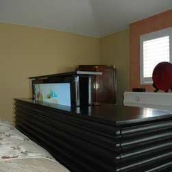 """Accord US Made End of bed TV Lift Cabinet.  End of Bed TV Lift Cabinet - Accord end of bed TV lift cabinet designed by """"Best of Houzz 2014"""", TV lift cabinet specialists Cabinet Tronix. Designer US made furniture perfectly married with premium US made TV lift system."""