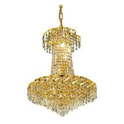 Elegant Lighting - Elegant Lighting ECA4D18G Belenus 6-Light, Two-Tier Crystal Chandelier, Finished - Elegant Lighting ECA4D18G Belenus 6-Light, Two-Tier Crystal Chandelier, Finished in Gold with Clear CrystalsElegant Lighting ECA4D18G Features: