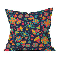 Arcturus Bloom 1 Outdoor Throw Pillow - Do you hear that noise? it's your outdoor area begging for a facelift and what better way to turn up the chic than with our outdoor throw pillow collection? Made from water and mildew proof woven polyester, our indoor/outdoor throw pillow is the perfect way to add some vibrance and character to your boring outdoor furniture while giving the rain a run for its money.