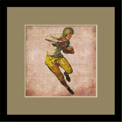 Mantle Art Company - Vintage Football custom framed art - Beautiful modern art custom framed by designers to bring out the best in this piece of art. Made in the USA