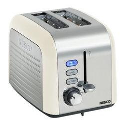 NESCO - Nesco T1000-14 2-Slice Toaster (Cream/Chrome) - 100W