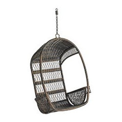 Outdoor Swingasan Chair - I originally saw this swinging chair at Pier 1 with a cushy throw pillow in it. I fell in love with it the second I saw it! It's so comfortable and just plain cool. I'm dreaming of it for my backyard :)