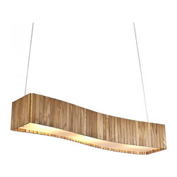 ParrotUncle - Large Wooden Shade Dining Room Island Pendant Lighting - Large Wooden Shade Dining Room Island Pendant Lighting