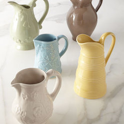 NM EXCLUSIVE - NM EXCLUSIVE Five Assorted Pitchers - Our most loved pitchers arrive dressed in on-trend spring colors. In a variety of shapes and patterns, they make a lovely instant collection for shelf or table display. Of course, they're also ideal for serving your beverages of choice or for holding bo...