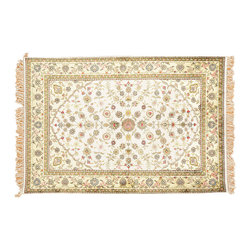 1800-Get-A-Rug - Oriental Rug Soft Colors Hand Knotted Rug Silken Esfahan Sh12609 - About Silk