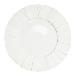 Vista Alegre - Matrix White Porcelain Dinner Plate - Created by renowned designer Bartek Mejor, the Matrix collection is a functional, thoroughly modern line. Plates are built from a series of irregular surfaces, creating a unique, original design.