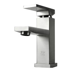 "TCS Home Supplies - Lead Free Bathroom Lavatory Vessel Sink Faucet - 6-1/2 x 3-1/4 Inch - A smaller version of the 12"" model, featuring the same functionality, this single-handle vessel faucet offers crisp edges and geometric eloquence in three choices of finishes: brushed nickel, oil-rubbed bronze or chrome. Dimensions 6-1/2"" x 3-1/4""."