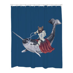 Sharp Shirter - Sharp Shirter Sir Catspian Shower Curtain - This curtain is printed in USA!. Hooks sold separately. Disclaimer: If you order multiple items, they may ship from separate locations.