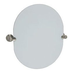 DHI-Corp - Allante Oval Pivot Mirror, Satin Nickel - The Design House 560987 Allante Oval Pivot Mirror swiftly tilts up and down and adjusts to your needs. Ez anchor mounts are included with this mirror for quick installation on drywall with (included) Teflon screws to secure the mirror to its brackets. Anchors are a cleaner alternative to plugs and they are well-known for their steadfast strength and intuitive design. Zinc holders are finished in satin nickel while the thin glass mirror is perfect for small bathrooms or closets. This mirror measures 19.7-inches by 15.75-inches by 3.1-inches. The Design House 560987 Allante Oval Pivot Mirror comes with a 1-year limited warranty that protects against defects in materials and workmanship. Design House offers products in multiple home decor categories including lighting, ceiling fans, hardware and plumbing products. With years of hands-on experience, Design House understands every aspect of the home decor industry, and devotes itself to providing quality products across the home decor spectrum. Providing value to their customers, Design House uses industry leading merchandising solutions and innovative programs. Design House is committed to providing high quality products for your home improvement projects.