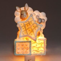 ATD - 4.75 Inch Rabbit and Mouse with Star and Blocks Design Night Light - This gorgeous 4.75 Inch Rabbit and Mouse with Star and Blocks Design Night Light has the finest details and highest quality you will find anywhere! 4.75 Inch Rabbit and Mouse with Star and Blocks Design Night Light is truly remarkable.