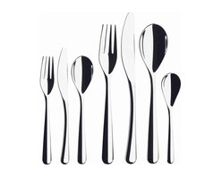 Iittala - Piano Place Setting, 5 Piece Set - Not every meal calls for crystal and silver, so why not invest in a chic set of stainless steel flatware? Sleek lines and a shiny finish will keep your table looking fresh and stylish. No polishing required.