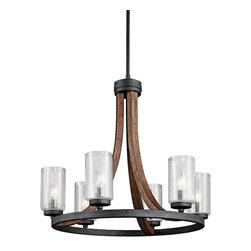 Kichler 6-Light Medium Chandelier - Auburn Stained - Six Light Chandelier