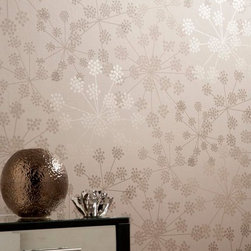 Graham & Brown - Sparkle Wallpaper - Simple yet stunning star burst design featuring metallic tones for a shimmering effect.