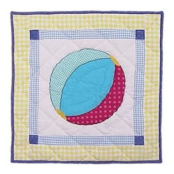 Patch Magic - Summer Fun Ball Toss Pillow - 16 in. W x 16 in. L. 100% Cotton. Machine washable.. Line or flat dry onlyDecorative applique Quilted Pillow.