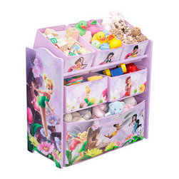 Disney Tinker Bell Fairies Multi-Bin Toy Organizer - Little princesses will love this Tinker Bell toy organizer.