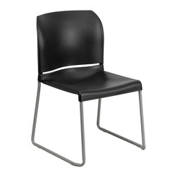 Flash Furniture - Flash Furniture Hercules Full Back Contoured Stack Chair in Black - Flash Furniture - Stacking Chairs - RUT238ABKGG - This multi-purpose stack chair fits in a multitude of environments. This chair will make a great conference reception meeting office and classroom or break room chair. The contoured back and seat provides excellent comfort.