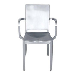Hudson Chair By Emeco - The Hudson chair in polished aluminum. For those who want the best,you may wish to consider the incredible Hudson chair designed by Philippe Starck and made by Emeco. Philippe Starck created and named the Hudson Chair for Ian Schragers Hudson Hotel in New York. The Hudson chair is included in the design collection of the Museum of Modern Art,and was selected by the Chicago Athenaeum as one of the top 100 designs for 2000,winning the prestigious Good Design Award.