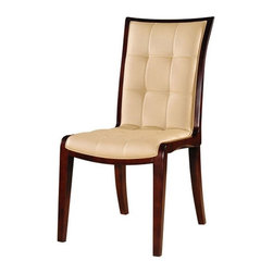International Design - Set of 2 Leather Dining Chairs - Enhance your home decor with King dining chairs. Dining furniture is made of solid wood for a sturdy look and feel. Set includes two chairs . No Assembly Required. 19 in. L x 22 in. W x 38 in. H (20 lbs)