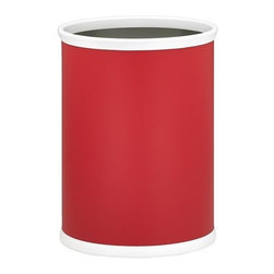Kraftware - Bartenders Choice Fun Colors Oval Wastebasket in Red - Made in USA. 12 in. W x 8 in. D x 15 in. H (2 lbs.)Our fun colors collection features the hottest colors for the season, to provide you with great entertaining items, with up to the minute styling. Great for indoor and outdoor entertaining.