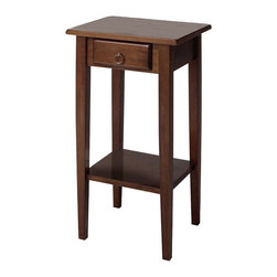 Winsome - Regalia Accent Table - Featuring the elegant and stylish Regalia design, the table can be used to display a potted plant and/or store a telephone. It has a shelf perfect for stacking phone books, and a small drawer to keep a notepad and pen conveniently tucked away.