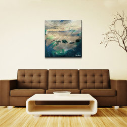 Ready2HangArt - Ready2HangArt Alexis Bueno 'Abstract Stone Spa' Oversized Canvas Wall Art - This abstract canvas art set is the perfect addition to any contemporary space. It is fully finished, arriving ready to hang on the wall of your choice.