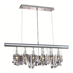 Elegant Lighting - 3100D30C/RC Chorus Line 6 Lights Chandelier In Chrome W/Royal Cut Clear Crystal - Features: