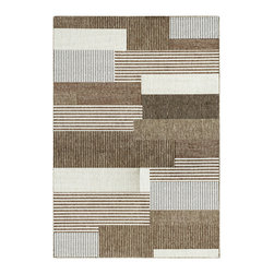 """Couristan - Monaco Starboard Rug 2467/2003 - 2' x 3'7"""" - Perfect for an outdoor patio, deck or sunroom, the Monaco Collection is designed to convert your space to the perfect at-home escape. Pair one of these performance area rugs with your outdoor furniture to enhance any look. The subtle designs and neutral hues found in Monaco are sure to bring a relaxed ambiance to any room or space of your liking."""