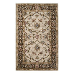 "Surya - Surya Kensington KEN-1021 5' x 7'9"" Khaki Rug - Intricate traditional designs are the cornerstone of the Kensington Collection. This collection combines the pattern and feel of traditional rugs, but provides an updated and modern color palette. The color combinations of these rugs were chosen to reflect the trends of the modern furniture market, to create an easy and comfort when adding the rugs to a home. These rugs are hand tufted from 100% wool. The ''Pantone'' colors include: Dark Chocolate (19-1012), Teal Blue (19-4820), Putty (13-0711), Caramel (15-1225), Khaki (15-1217), Maroon (19-1656), Cinnamon Spice (18-1244), Turtle Green (18-0527), Caviar (19-4006), Shadowy Mauve (16-1509)"