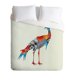 DENY Designs - Iveta Abolina Bluebird Duvet Cover - Turn your basic, boring down comforter into the super stylish focal point of your bedroom. Our Luxe Duvet is made from a heavy-weight luxurious woven polyester with a 50% cotton/50% polyester cream bottom. It also includes a hidden zipper with interior corner ties to secure your comforter. it's comfy, fade-resistant, and custom printed for each and every customer.