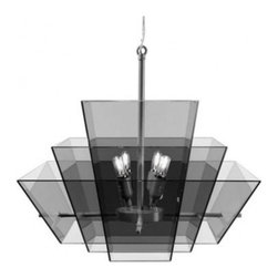 """ITALAMP - ITALAMP T1300 Medulla Suspension Lamp - The T1300 Medulla Suspension Lamp has been designed by Simone Cagnazzo and made in Italy by Italamp manufacturer. T1300 Medulla Pendant light is a contemporary lamp made of glass and metal. This modern hanging lamp is a beautiful addition in any kind of room, small or large, home, office or hotel settings. Medulla lamp consists of a metal structure which sustains its fume glass lampshade with anthracite finishes. Medulla lamp is available in a single size including 4 lights. The T1300 Medulla Suspension Lamp is dimmable and when is turned on the lamp diffuses a parade of light with bright personality. Illumination is provided by E12, 40W Halogen bulb (not included).      Product Details: The T1300 Medulla Suspension Lamp has been  designed  by Simone Cagnazzo and made in Italy by Italamp manufacturer. T1300 Medulla Pendant light is a contemporary   lamp made of   glass and metal. This modern  hanging lamp is a beautiful  addition in any kind of room, small or large, home, office or hotel settings. Medulla lamp consists of a  metal structure which sustains its  fume glass lampshade with  anthracite finishes.  Medulla lamp is available in  a single size including  4 lights. The T1300 Medulla Suspension Lamp is dimmable and when is turned on the lamp diffuses a parade of light with bright personality. Illumination is provided by  E12, 40W Halogen bulb (not included). Details:                         Manufacturer:            Italamp                            Designer:            Simone Cagnazzo                            Made in:            Italy                            Dimensions:                        Diameter: 21.7""""(55.1cm) X Height: 20.9""""(53.1cm)                                         Light bulb:                        E12, 4x40W Halogen   bulb (not included)                                         Material:            Glass, Metal"""