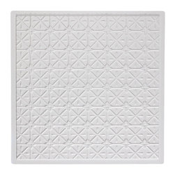 """Continental Ceiling Tile - White - Perfect for both commercial and residential applications, these tiles are made from thick .03"""" vinyl plastic. Their lightweight yet durable construction make these tiles easy to install. Waterproof, these tiles are washable and won't stain due to humidity or mildew. A perfect choice for anyone wanting to add that designer touch at an amazing price."""