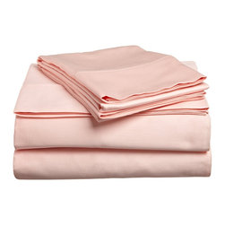 300 Thread Count Egyptian Cotton Queen Waterbed Peach Solid Sheet Set - 300 Thread Count Egyptian Cotton Queen Waterbed Peach Solid Sheet Set