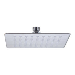 "ALFI - ALFI Solid Brushed Stainless Steel 8"" Square Ultra Thin Rain Shower Head - Transform your bathroom with this ultra thin rain shower head which is only 2mm thick, that's about 1/16"" of an inch! You won't believe your eyes and neither will your next house guest. Enjoy the modern sleek thin design and be reassured that its made of Solid Stainless Steel unlike traditional rain shower heads made of brass."