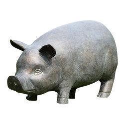 """SPI - Perky Pig Garden Sculpture with Bluetooth Speaker - -Size: 11.5"""" H x 24"""" W x 9"""" D"""