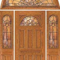 """Jeld-Wen 401 Oak Door Sidelights w 640 Transom Wheat Finish - SKU#401BrandJeld-WenDoor TypeExteriorManufacturer CollectionJeld-Wen Exterior Custom WoodDoor ModelDoor MaterialWoodWoodgrainOakVeneerPrice$Door Size Options  $Core TypeDoor StyleDoor Lite StyleFan LiteDoor Panel Style6 PanelHome Style MatchingClassic , Colonial , VictorianDoor ConstructionPrehanging OptionsPrehung ConfigurationDoor with Two Sidelites and  Half Round TransomDoor Thickness (Inches)Glass Thickness (Inches)Glass TypeGlass CamingGlass FeaturesGlass StyleGlass TextureGlass ObscurityDoor FeaturesDoor ApprovalsDoor FinishesWheatDoor AccessoriesWeight (lbs)620Crating Size25"""" (w)x 108"""" (l)x 52"""" (h)Lead TimeWarranty"""