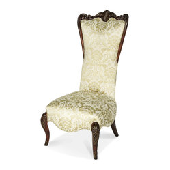 AICO Imperial Court High Back Wood Trim Chair