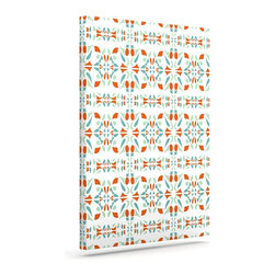 """Kess InHouse - Miranda Mol """"Italian Kitchen Orange Green"""" Wrapped Art Canvas (30"""" x 24"""") - Bring your outdoor patio to life with this artistic outdoor canvas wrap featuring gorgeous artwork by KESS InHouse. These canvases are not only easy to hang and remove but also are the perfect addition to your patio collection. These canvases are stretched around a wooden frame and are built to withstand the elements and still look artistically fabulous. Decorating your patio and walls with these prints will add the splash of art and color that is needed to bring your patio collection together! With so many size options and artwork to choose from, there is no way to go wrong with these KESS Canvas Wraps!"""