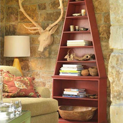 Nautical Whimsical Collection - Coral Red Avalon Bookcase.$2115