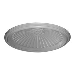 "Ekena Millwork - Edwards Ceiling Dome, 3 1/2""W Trim (36 1/2""Diameter x 8 7/8""D Rough Opening) - 44 1/8""OD x 37""ID x 6 7/8""D, Edwards Ceiling Dome, 3 1/2""W Trim (36 1/2""Diameter x 8 7/8""D Rough Opening). Urethane ceiling domes enhance interiors with rich texture and traditional appeal. Many of our urethane ceiling domes include classic decorative details, ranging from floral motifs to crisp moulding. Whether you seek something subtle or ornate, we have a urethane ceiling dome for you. Each ceiling dome is factory primed and ready for your paint or faux finish. Each dome is manufactured out of a high density urethane foam, which is great for durability, but is also lighter than other materials to make installation a snap. Enhance your room with a beautiful ceiling dome focal piece."