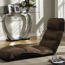 """Monarch - Brown Microfiber """"EZ Lounger"""" Click Clac - Sit back and relax while watching TV or reading a book in one of these comfy lounge chairs. They are made with plush polyurethane foam for added comfort and covered in a microfiber fabric for style. Each chair comes with a one-year warranty."""