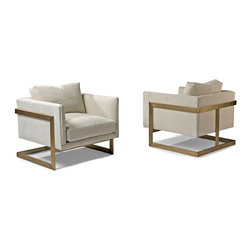 Thayer Coggin - Design Classic 989 Lounge Chairs by Milo Baughman (bronze) from Thayer Coggin - Thayer Coggin Inc.
