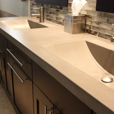 Contemporary Bathroom Countertops by Russel B. Peterson Home Builder Inc.