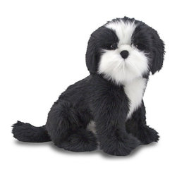 Melissa & Doug - Melissa and Doug Shih Tzu Plush Multicolor - 4863 - Shop for Plush Toys from Hayneedle.com! Splashes of white on black make the Melissa and Dough Shih Tzu Plush oh so cute. He's brimming with lifelike details your little ones will love including a stubby tail and floppy ears.About Melissa & Doug ToysSince 1988 Melissa & Doug have grown into a beloved children's product company. They're known for their quality educational toys and items and have grown in double digits annually. The Melissa & Doug company has been named Vendor of the Year by such great retailers as FAO Schwarz Toys R Us and Learning Express and their toys have been honored as Toys of the Year by Child Magazine FamilyFun Magazine and Parenting Magazine. Melissa & Doug - caring quality children's products.