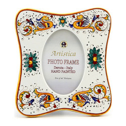 Artistica - Hand Made in Italy - Photo Frame: Raffaellesco Deruta - Deruta Photo Frames: