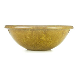 Sungmer Sinks™ - Marvelous Mango Marble™ Hand Carved Stone Sink - Marvelous Mango Marble™ is a special blend of luscious orange and turmeric tones created by compressed sand. This material is fairly consistent in color and pattern with the occasional sprinkle of carbon. Either in the forefront with its playful color, or serving as a neutral base, Marvelous Mango Marble works well across a spectrum of designs.