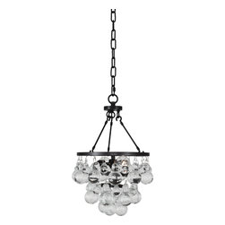 Robert Abbey - Bling Chandelier, Deep Patina Bronze - Like a little bunch of glass grapes dangling from a vine, you can hang this contemporary chandelier from above and behold the cluster of bling. Gussy up any gathering place and toast the times with gusto.